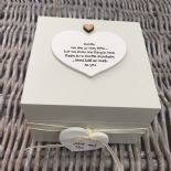 Shabby Personalised Chic Auntie Aunty Great Aunt Gift Trinket Box Jewellery Box - 253191068479